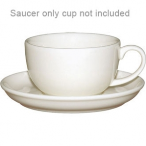 Ivory Cappuccino Saucer - Fits 285ml U112 (Box 12)