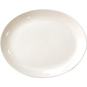 Olympia Ivory Oval Coupe Plate 29cm 11 (Box 12)