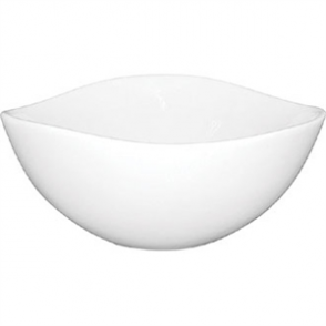 White Wavy Bowl 105mm (Box 12)