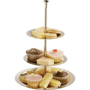 3 Tier Stainless Steel Service Display Tray