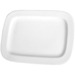 Olympia Whiteware Round Rectangle Plate - 230x170mm 9x6 3/4 (Box 12)