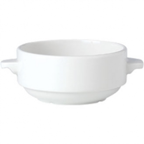 Steelite Simplicity White Lugged Stacking Soup Cups 285ml (Box 36)