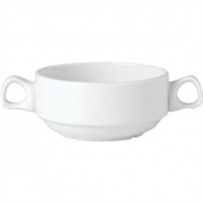 Steelite Simplicity White Handled Stacking Soup Cups 285ml (Box 36)