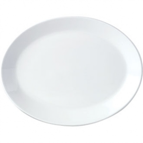 Steelite Simplicity White Oval Coupe Dishes 255mm (Box 12)