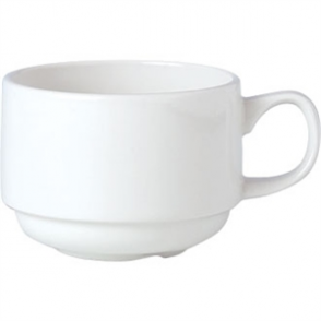 Steelite Simplicity White Stacking Slimline Cups 200ml (Box 36)