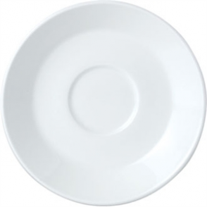 Steelite Simplicity White Slimline Saucers 150mm (Box 36)