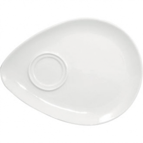 Olympia Snack Plate White - 215x240mm 8 1/2x9 1/2 (Box 12)