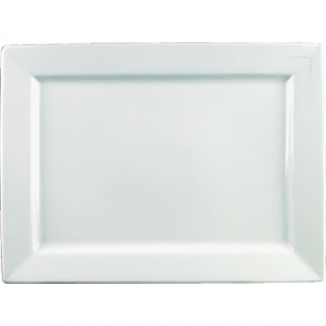 Olympia Wide Rim Rectangular Platter  400x 295mm ( Sold Single)