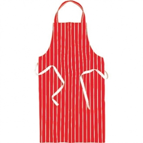 Bib Apron (Red & White Stripe)