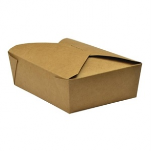 Vegware Compostable Paperboard No.5 Food Cartons 1050ml / 37oz