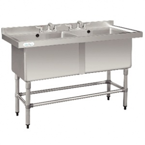 Double Deep Pot Sink - 1410 x 600