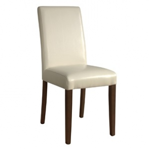 Bolero Faux Leather Dining Chairs Cream (Pack of 2)