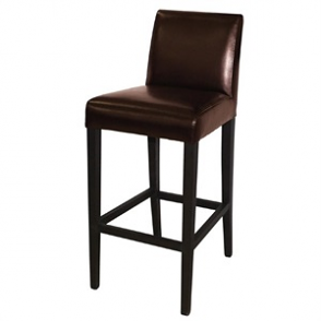 Bolero Faux Leather High Bar Stool with Full Back