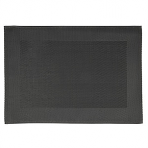APS PVC Placemat Fine Band Frame Black 6pp