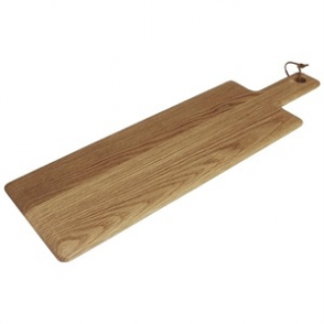 Olympia Oak Handled Wooden Board Medium 15(H) x 155(W) x 400(D)mm
