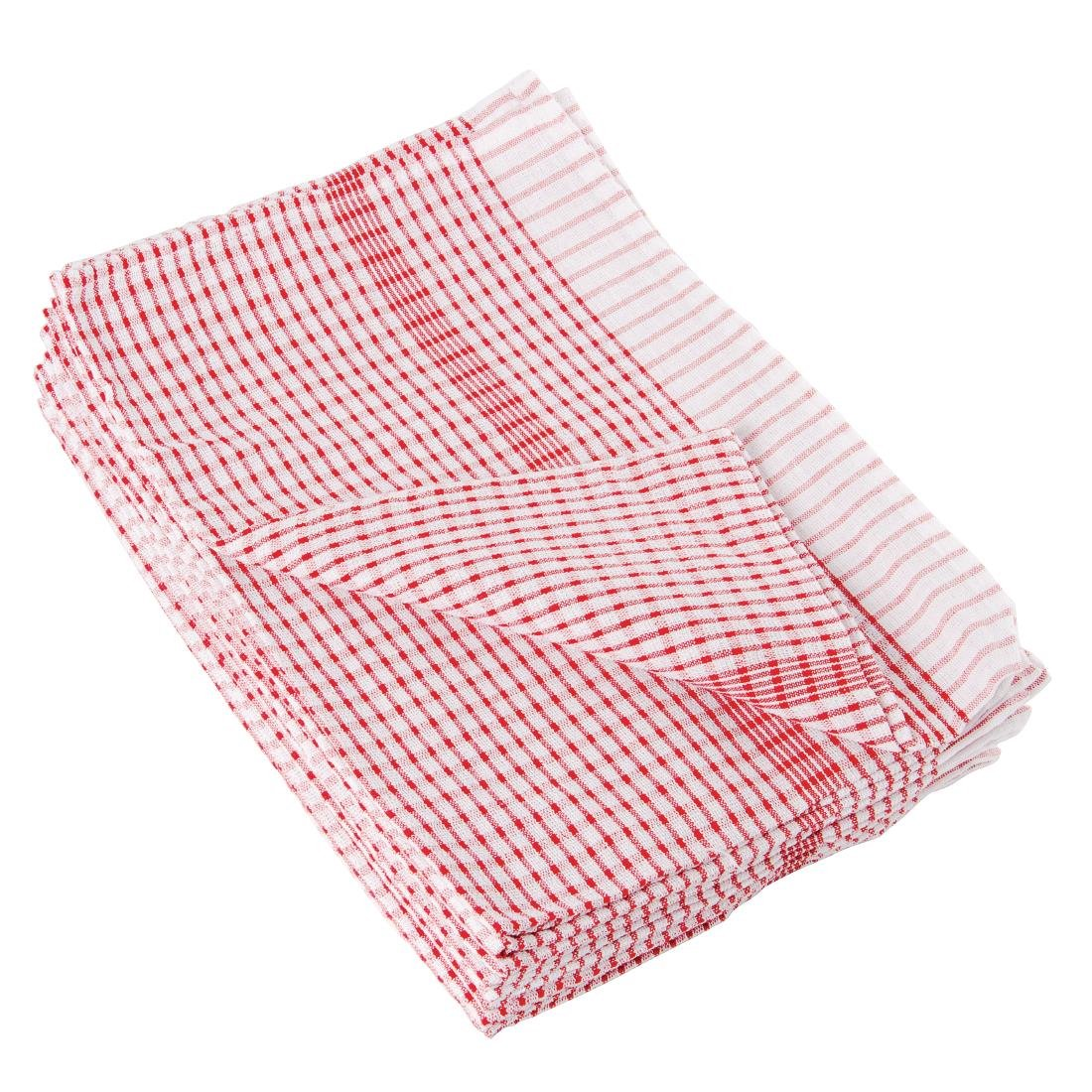 Wonderdry Tea Towels Red (Pack of 10)