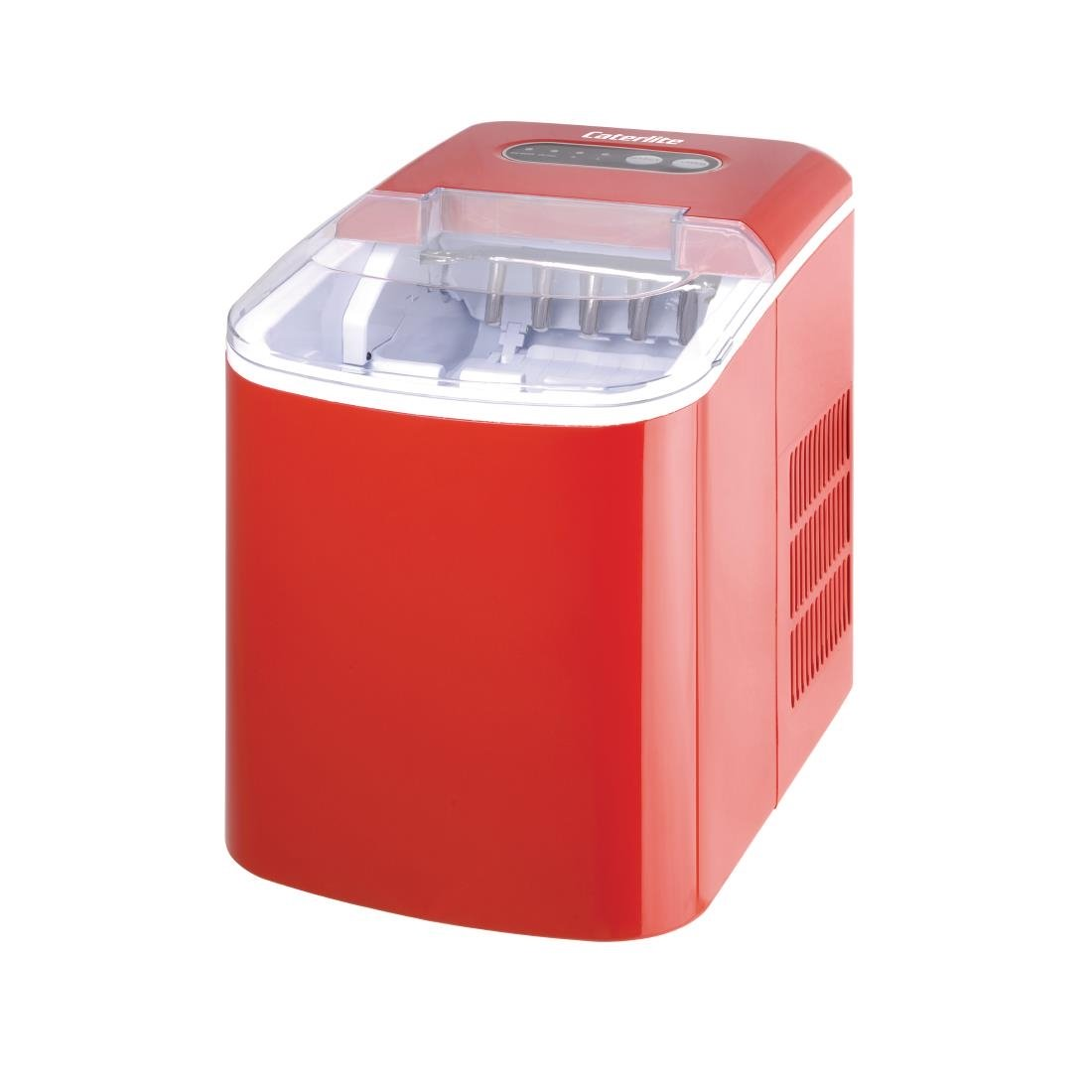 Caterlite Manual Fill Ice Maker - Red