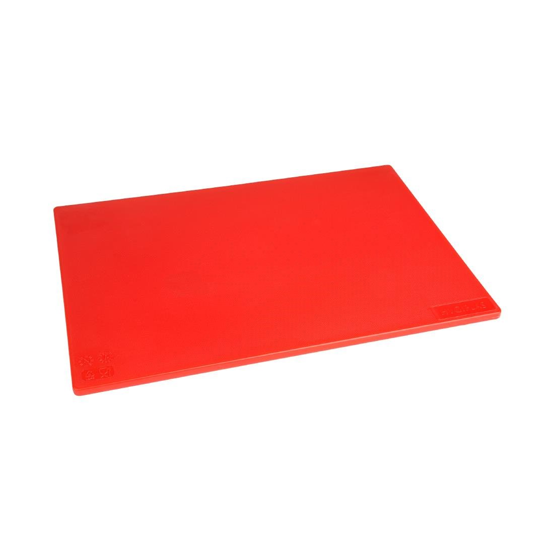 Hygiplas Anti-bacterial Low Density Chopping Board Red - 450x300x12mm