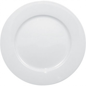 Olympia Whiteware Wide Rimmed Plate - 20cm 8 (Box 12)