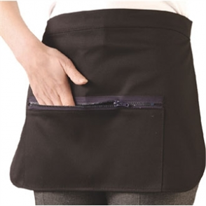 Black Money Pocket with Zip