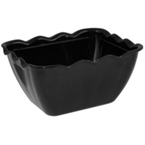 Kristallon Small Salad Crock Black SAN - 0.75Ltr 165x135x85mm