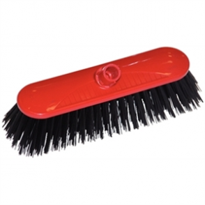 SYR Contract Broom Head Stiff Bristle Red 10.5in