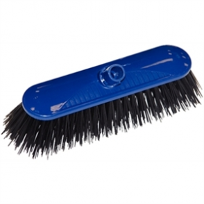 SYR Contract Broom Head Stiff Bristle Blue 10.5in