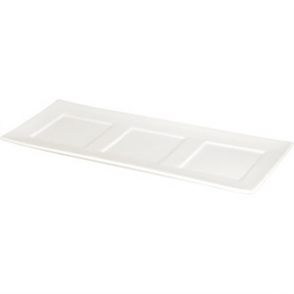 Lumina Fine China 3 Section Platter - 300x120mm (Box 6)