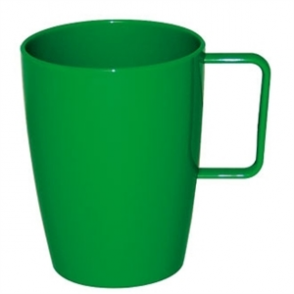 Kristallon Polycarbonate Handled Beakers Green 284ml (Box 12)