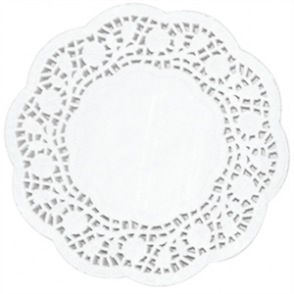 Paper Doily Round 4in (Box 250)