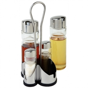 Complete Cruet Set and Stand