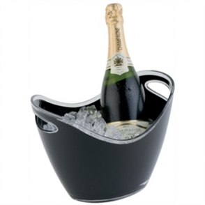 Wine Bucket Black 2 Bottle