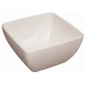 Curved White Melamine Bowl 8in (Sold Single)