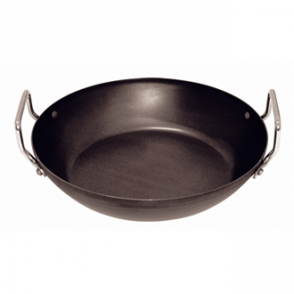 Vogue Black Iron Paella Pan 325mm