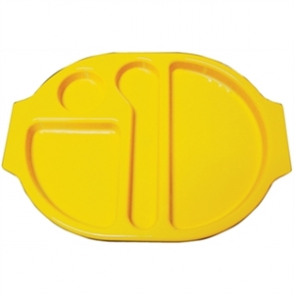 Food Compartment Trays Small. Pack quantity: 10. Yellow