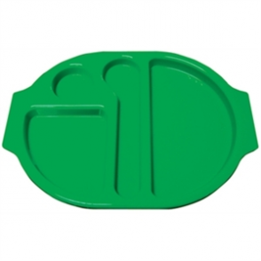 Food Compartment Trays Small. Pack quantity: 10. Green