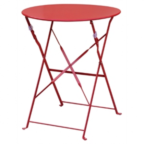 Bolero Red Pavement Style Steel Table