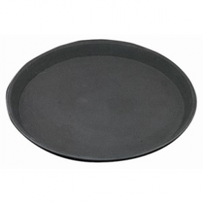 "SPECIAL OFFER (Pack of 6) Round Anti-Slip Trays 14"" Plastic"