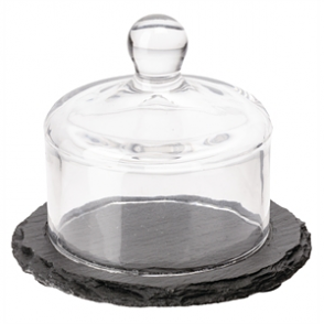 APS Slate Tray with Glass Cloche