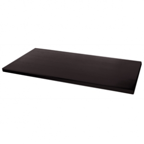 Werzalit Rectangular Table Top Black 1100mm