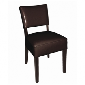 Bolero Chunky Faux Leather Chair (Pack of 2)