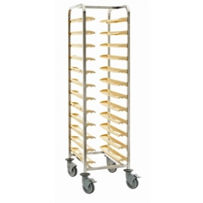 Bourgeat Self Clearing Trolley - Single 12 Trays