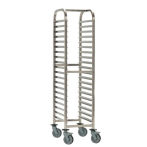 Bourgeat Full Gastronorm Racking Trolley 15 Shelves