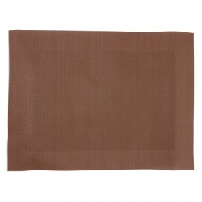 Woven PVC Brown Table Mat (Box 4)