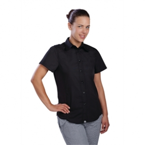 Chef Works Ladies Cool Vent Chefs Shirt Black