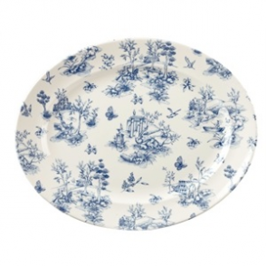 Churchill Vintage Prints Oval Dishes Prague Toile Print 365mm 6 per pack