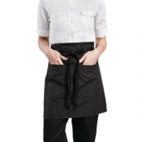 Chef Works Wide Half Waist Apron Pinstripe