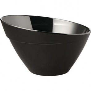 APS Balance Melamine Bowl Black 300mm
