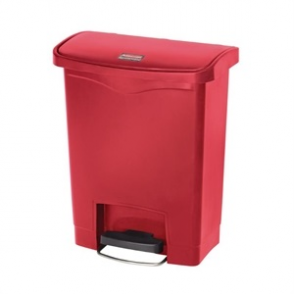 Rubbermaid Slim Step on Front Pedal Red 30Ltr