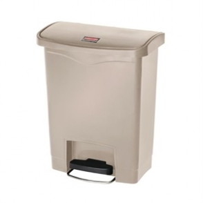 Rubbermaid Slim Step on Front Pedal Beige 30Ltr